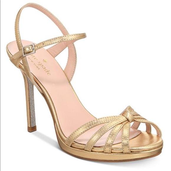 42afb229af2 kate spade Shoes - Kate Spade Florence Strappy Evening Sandal Heels
